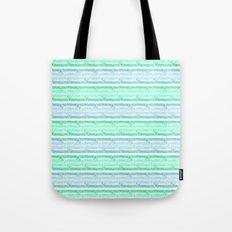 blue&green stripes Tote Bag