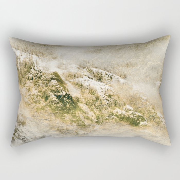 Golden Winter Forest 3 Rectangular Pillow