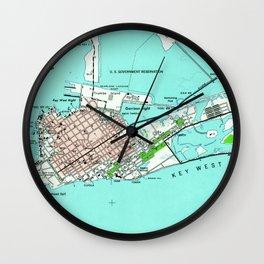 Vintage Map of Key West Florida (1962) Wall Clock