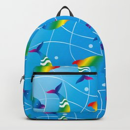 Rainbow Dolphins on the Wave_E Backpack