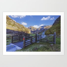 The Road to Tryfan Art Print