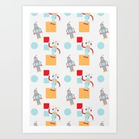 robots Art Prints featuring Robots by Samantha Eynon