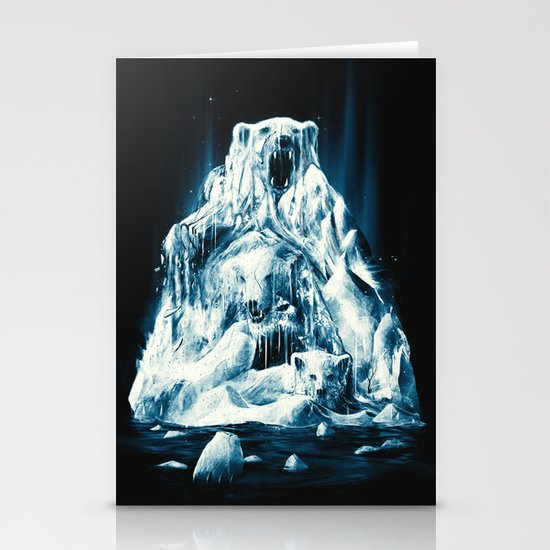 Melting Icebears Stationery Cards