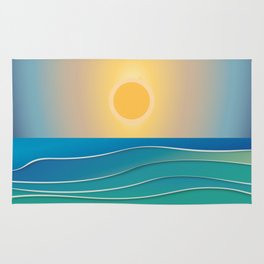 The sun comes and goes but the waves remain Rug