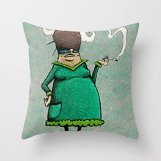 Madame Adipeux Throw Pillow
