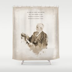 Miles To Go, Before I Sleep. Shower Curtain