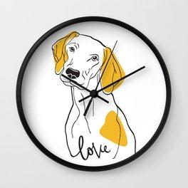Dog Modern Line Art Wall Clock