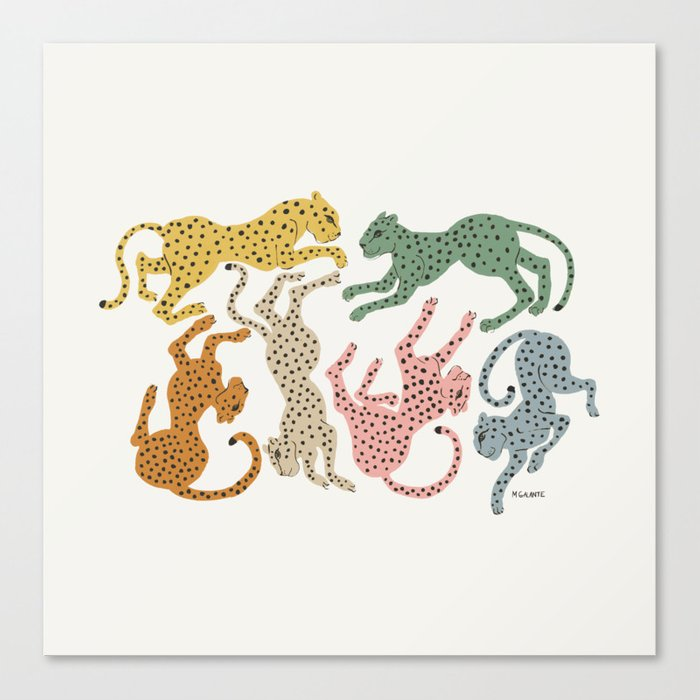 Rainbow Cheetah Leinwanddruck