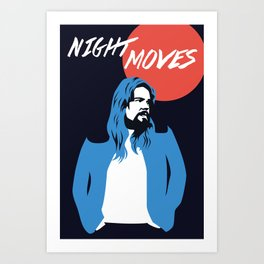 NIGHT MOVES: BOB SEGER Art Print
