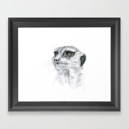 Meerkat G035 Framed Art Print