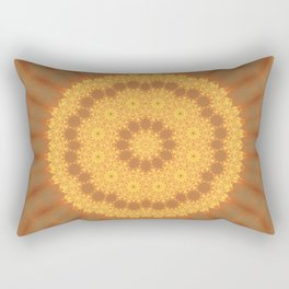 Kaleidoscope Of Gold Rectangular Pillow