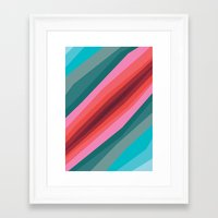 cracked Framed Art Prints featuring Cracked  by K I R A   S E I L E R