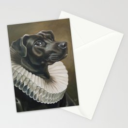 Portrait of a Young Doggo Stationery Cards