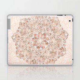 Mandala Seashell Rose Gold Coral Pink Laptop & iPad Skin