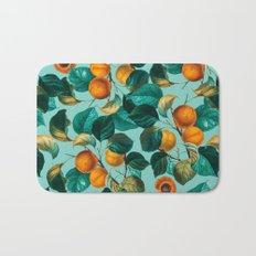 Peach and Leaf Pattern Bath Mat