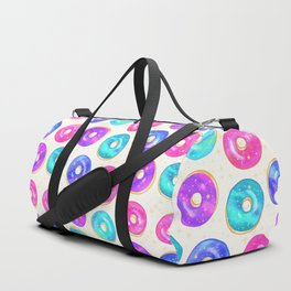Galaxy Donuts on Cream Duffle Bag