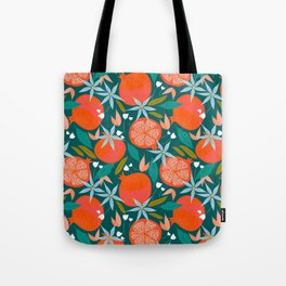 Summer Pomegranate #illustration #pattern Tote Bag