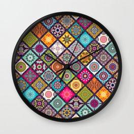 Background with mandala Wall Clock