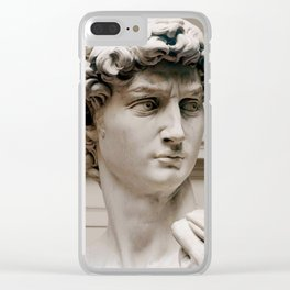 "Michelangelo ""David"" (head)(1) Clear iPhone Case"