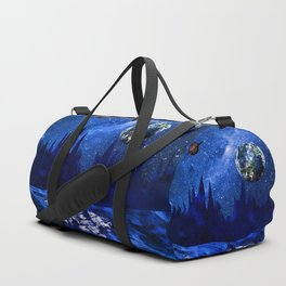 A megalodon on the blue planet Duffle Bag