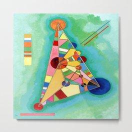 Wassily Kandinsky Multi Colored Triangle Metal Print