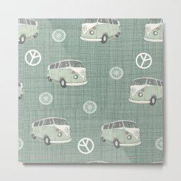 Camper vans pattern Metal Print