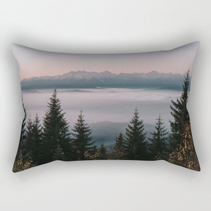 Faraway Mountains - Landscape and Nature Photography Rectangular Pillow