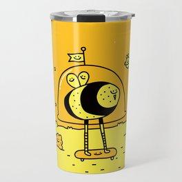 Happy Space Bee Travel Mug