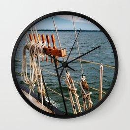 Charleston Sailboat IV Wall Clock
