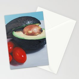 Avocado and Cherry Tomatoes Stationery Cards