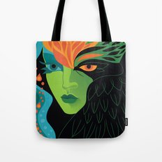 Eagle-eye Warrior Woman Tote Bag