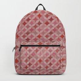 Vintage chic pink red geometrical quatrefoil pattern Backpack