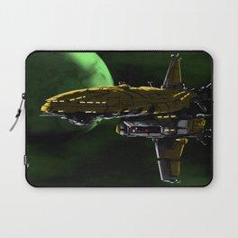 Comman Spaceship in Orbit Laptop Sleeve
