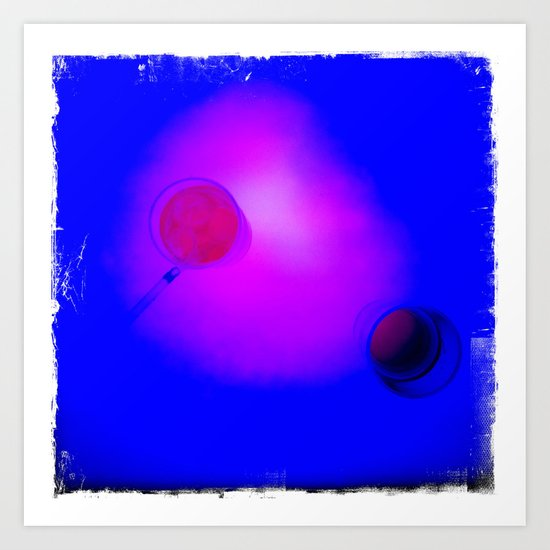 Chic Planet in the Blue Sky Art Print