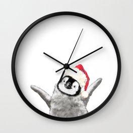 Christmas Baby Penguin Wall Clock