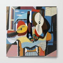 Pablo Picasso Mandolin and Guitar Metal Print