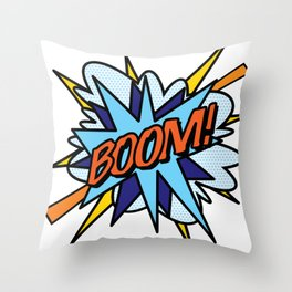 Comic Book Pop Art BOOM Throw Pillow