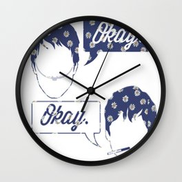 OKAY?OKAY THE FAULT IN OUR STARS TFIOS HAZEL AUGUSTUS CLOUDS SPEECH BUBBLES Wall Clock