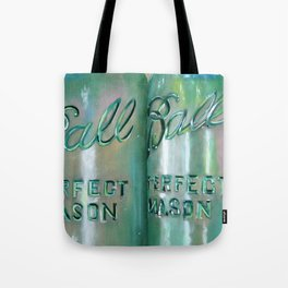 Ideal Mason Ball Jar Art Tote Bag
