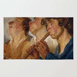"Jacob Jordaens ""Three Musicians"" Rug"