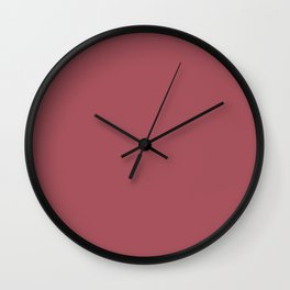 Christmas Rose Velvet Wall Clock