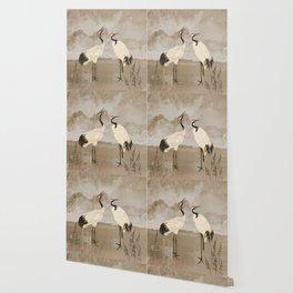 Wintering Manchurian Cranes Wallpaper