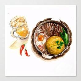 BBQ Chicken rice Canvas Print