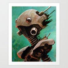 Twin #2 Robot Art Print