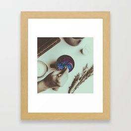 Keep Going Coffee Abstract Framed Art Print