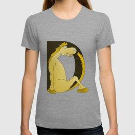 Pony Monogram Letter D T-shirt
