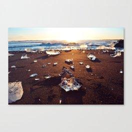 Black Sand Arrowhead at Diamond Beach Canvas Print
