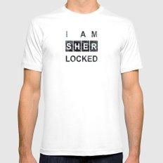 SHERLOCK I am Sherlocked Print Mens Fitted Tee White MEDIUM