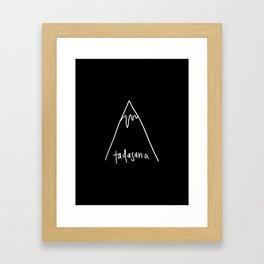 tadasana Framed Art Print
