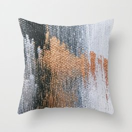 Rose Gold Dream - Abstract Oil Painting Throw Pillow
